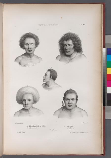 Tonga-Tabou. 1. Un mataboulai de Palou., 2. Vai-totai., 3. Kl  oulivaïlé., 4. Tahofa II., 5. Finaou.