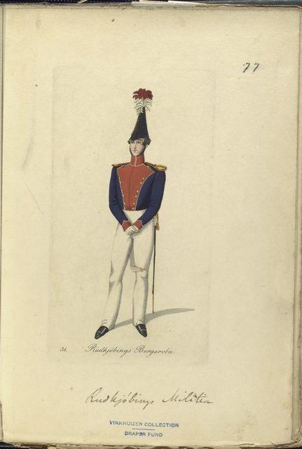 Denmark, 1835 : Deenske burgerweer en beamten.