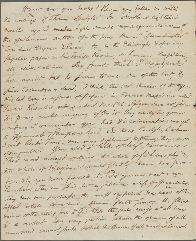 Hunt, Benjamin P[eter], ALS to. Jan. 23, 1835.