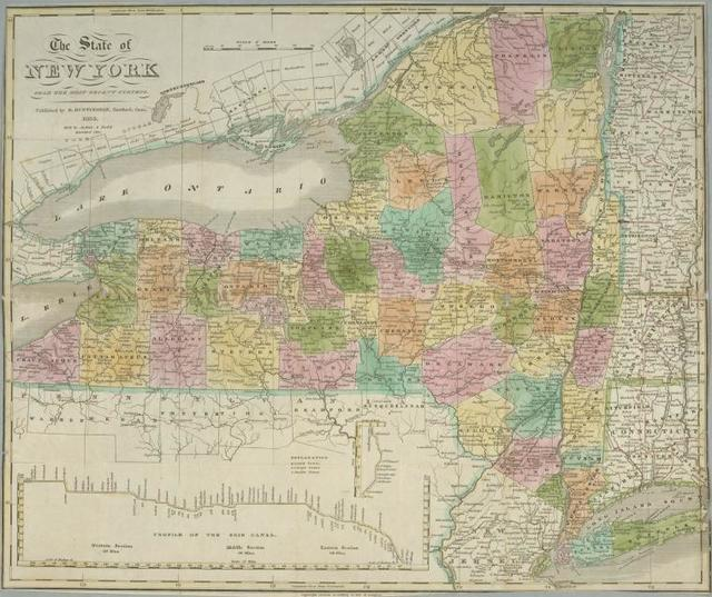The state of New York from the most recent surveys.
