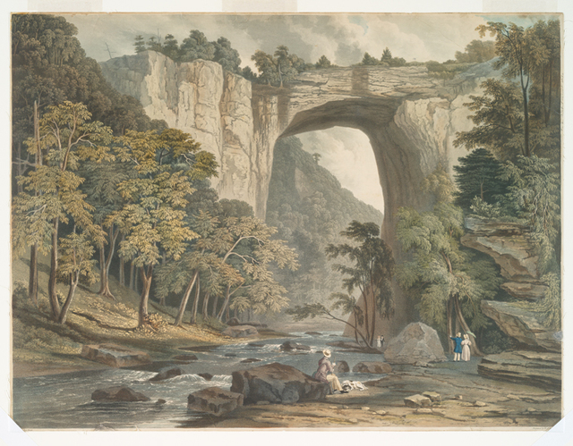 View of the Natural Bridge, Virginia.