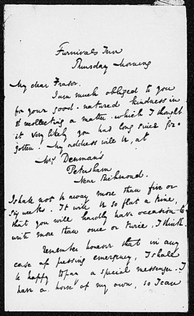 Fraser, Thomas. ALS to [1836 Aug.]