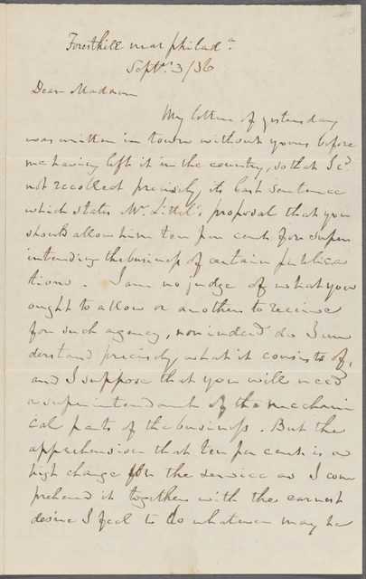 Letter from Charles Jared Ingersoll to Dolley Madison
