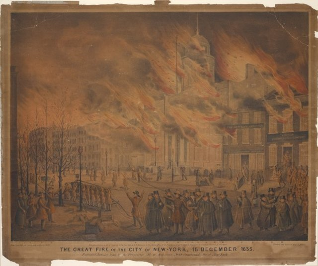 The Great Fire of the City of New York, 16 December 1835