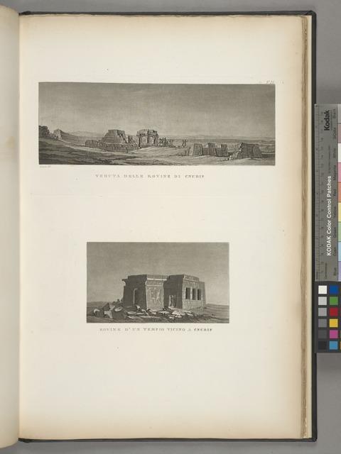 Veduta delle rovine di Cnubis; Rovine d'un tempio vicino a Cnubis.