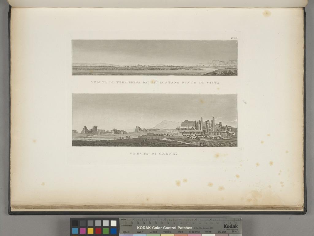 Veduta di Tebe presa dal più lontano punto di vista; Veduta di Carnac.