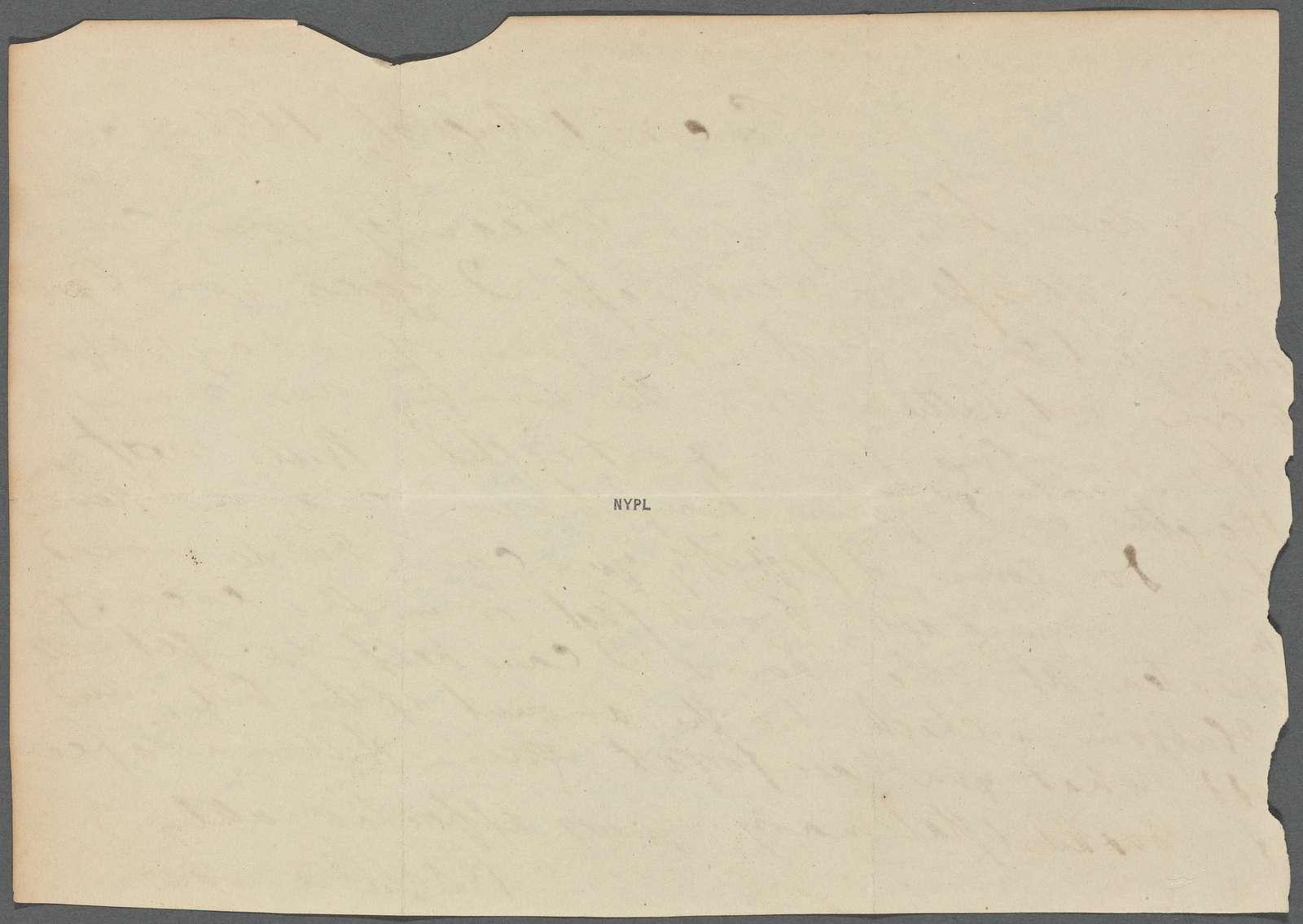 [Alcott, Amos Bronson], ALS to. Aug. 1, 1837.