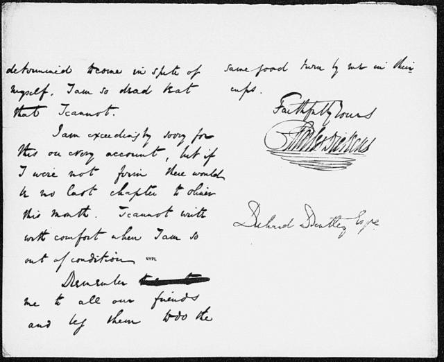 Bentley, Richard. ALS to [1837?]