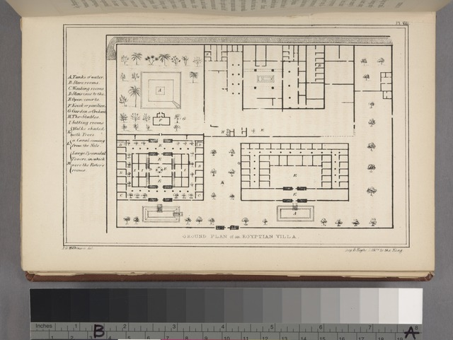 Ground plan of an Egyptian villa.