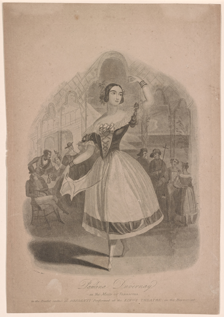 Paulina Duvernay as the maid of Terracina, in the ballet called Il briganti, performed at the King's Theatre in the Haymarket.