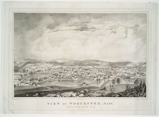 View of Worchester, Mass. Taken from Union Hill.