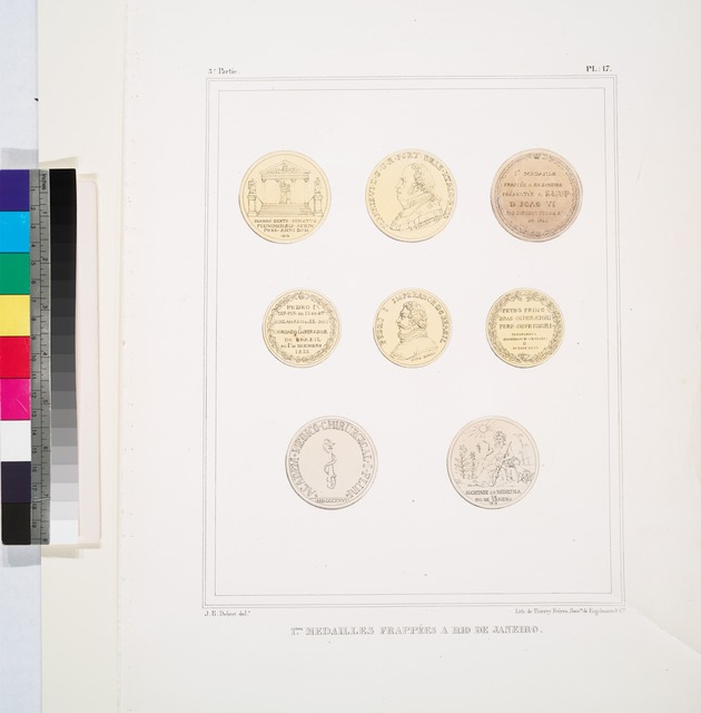 1-ères médailles frappées à Rio de Janeiro.