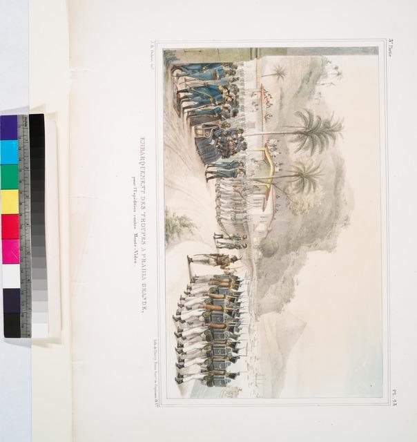 Embarquement des troupes à Prahia-Grande, pour l'expédition contre Monte-Video.