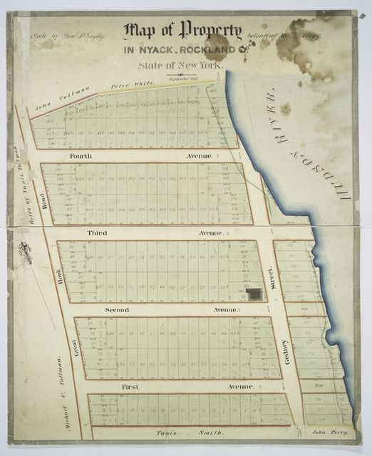 Map of property belonging to Gedney, in Nyack, Rockland Co., state of New York