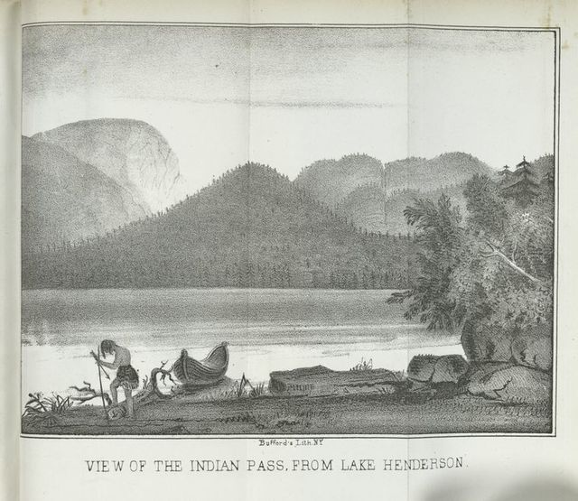 View of the Indian Pass, from Lake Henderson.
