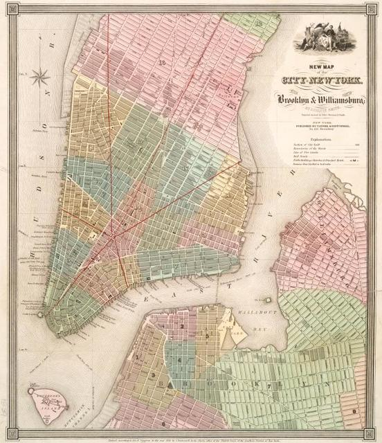 New map of the city of New York : with part of Brooklyn & Williamsburg