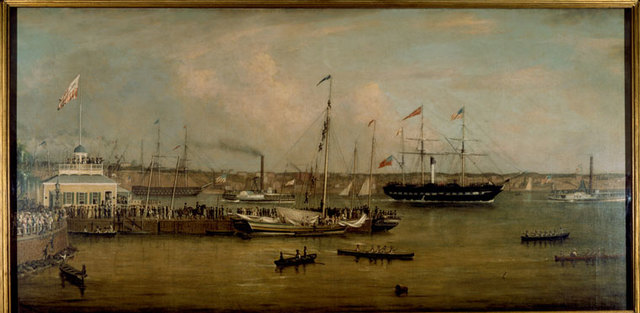 Arrival of the British Queen at New York, 28 July 1839.