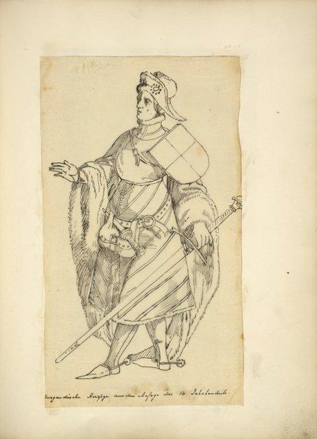 Burgundische herzöge aus dem ansage des 14 jahrhunderts.