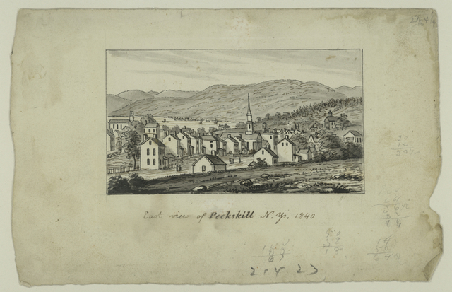 East view of Peekskill N.Y. 1840.