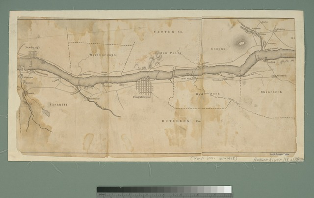 Map of the Hudson River from Newburgh to Kingston.