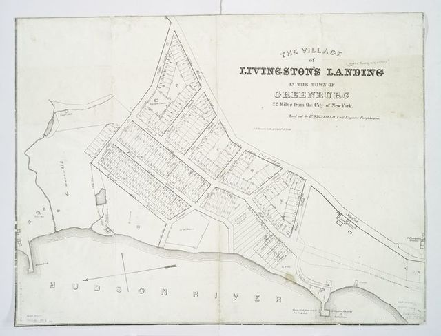 Village of Livingston's Landing, in the town of Greenburg : 22 miles from the city of New York