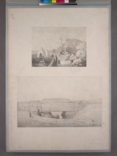 Fig. 1. The tents ; Fig. 2. Bridge in the southern dyke.