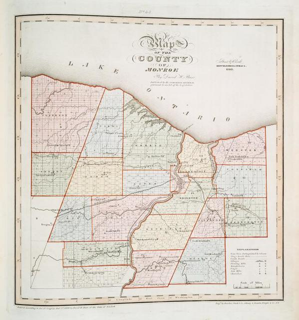 Map of the county of Monroe
