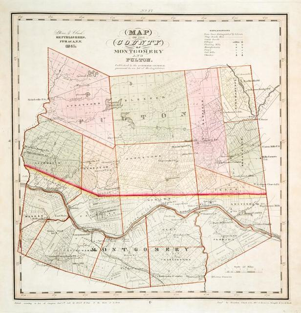 Map of the county of Montgomery and Fulton - New York Public