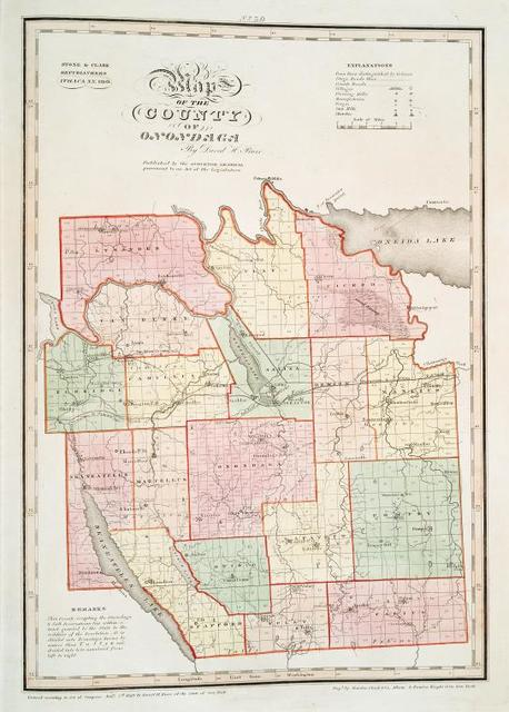 Map of the county of Onondaga