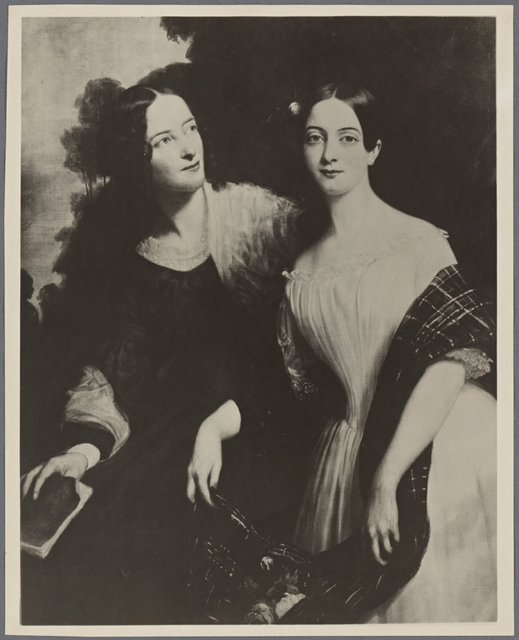Photo of portrait of the Tuckerman sisters painted in Paris by G. P. A. Healy in 1841