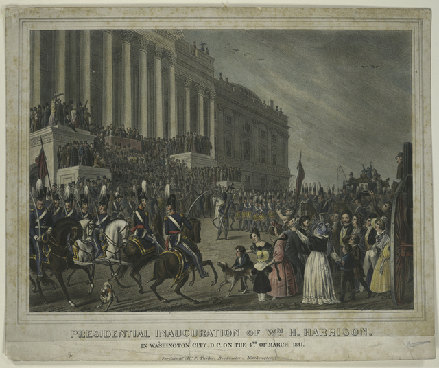 Presidential inauguration of Wm. H. Harrison, in Washington City, D.C. on the 4th. of March 1841.