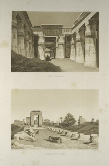 Temple de Khons; Avenue des Sphinx