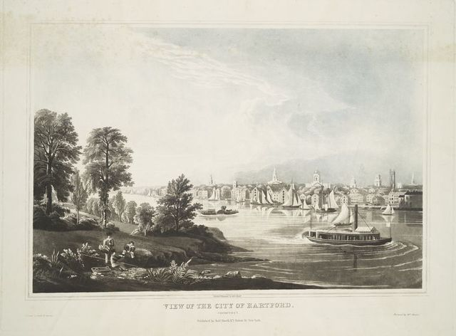 View of the city of Hartford. Connecticut.