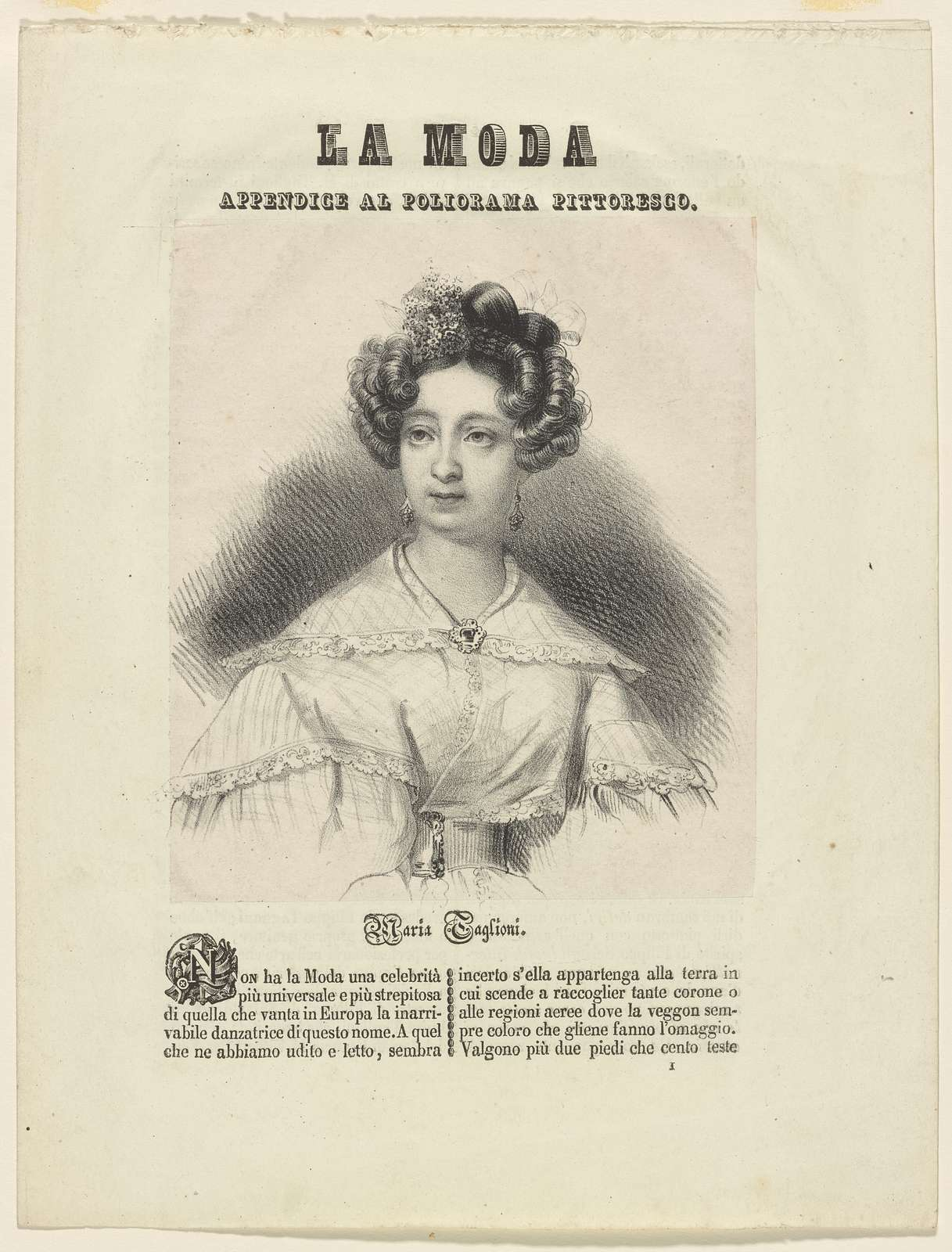 Marie Taglioni (fac. sig.): Engraved by H. Robinson.  Drawn by Edwin D. Smith.  Printed by Brooker & Harrison