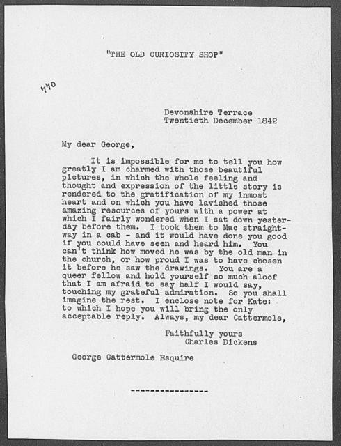 Cattermole, George. ALS to 1842 Dec. 20