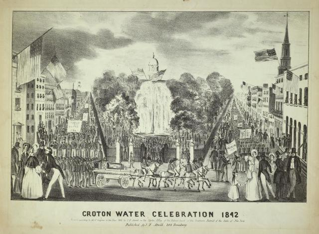 Croton water celebration 1842