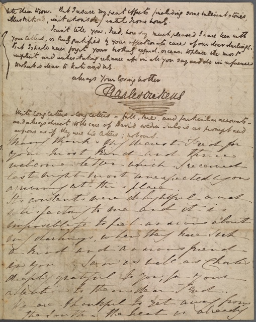 Dickens, Frederick, his brother. ALS to 1842 Mar. 22  ;  ALS from Mrs. Catherine Dickens to [Baltimore, March 22, 1842]