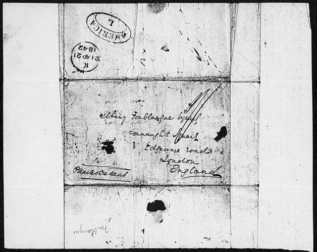 Fonblanque, Albany. ALS to 1842 Mar. 12