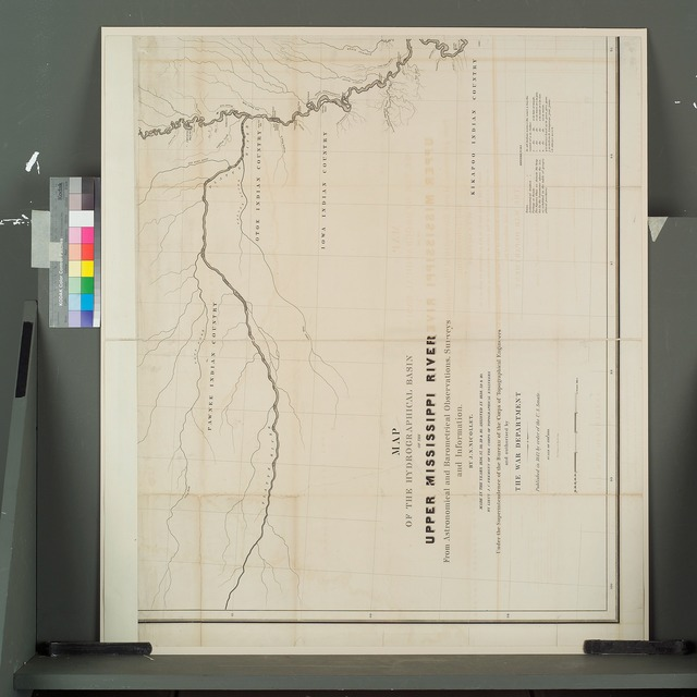 Map of the hydrographical basin of the upper Mississippi River [bottom left].