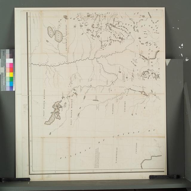 [Plateau du Coteau du Missouri, Yanktonnan country, Yankton country, Salt water region, Chipeway country, Cote du Grand Bois; top left]