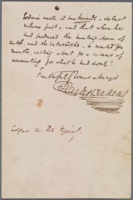Poe, Edgar Allan. ALS to 1842 Mar. 6