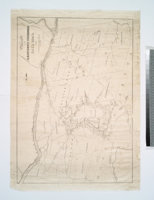 Route of the Albany & West Stockbridge Rail Road, 1842.