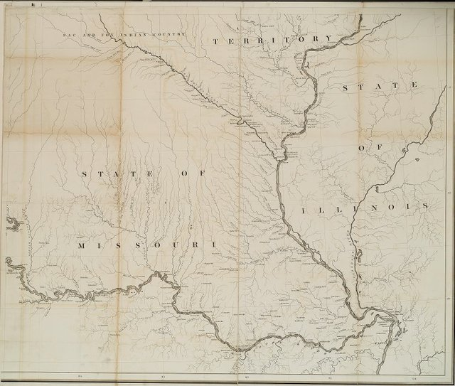 [Sac and Fox Indian country, State of Missouri, State of Illinois; bottom right.]