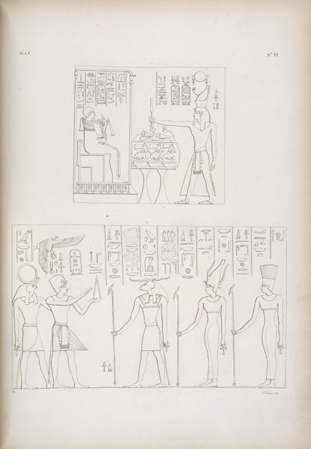 1. Offerte di Ramses III a Ptah. - Ibrim: 2. Offerte di Amenof II [Amenhotep II] a Chnuphis [Khnum], Sate [Satis] e Anuke [Anoukis].
