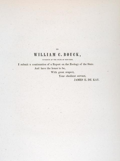 [Dedication] To William C. Bouck , Governor of the State of New York.