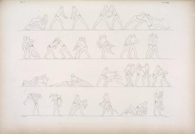 Esercizi ginnastici dei militari.
