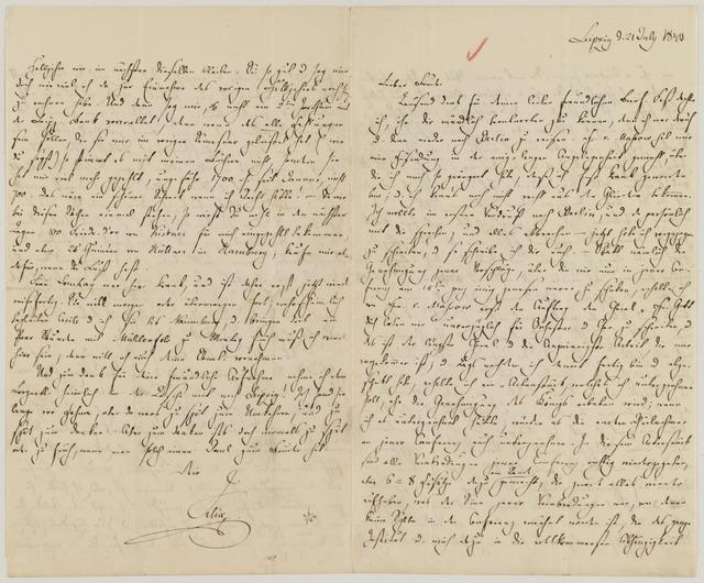 FMB an Paul, 21 July 1843.
