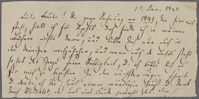 FMB an Paul, 2.Jan 1843