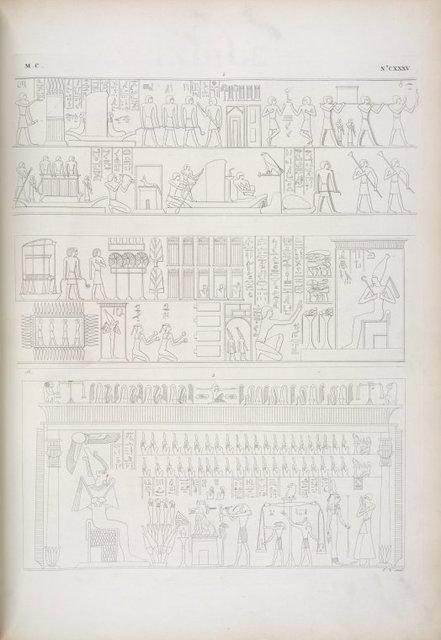 La casa di Osiride [Osiris]. - Il tribunale di Osiride [Osiris] nell'Amenti.
