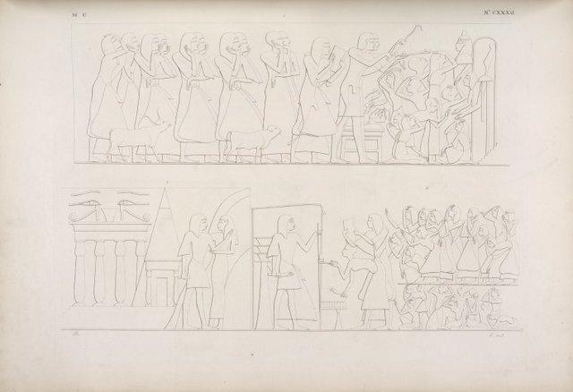 Lettura dell' ultima sentenza, e deposizione della mummia nel sepolcro.